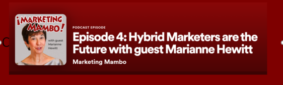 Hewitt Discusses The Hybrid Marketer on Marketing Mambo