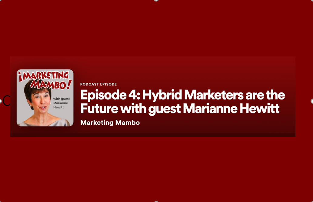 Marketing Mambo Spotify Banner With Longer Filler